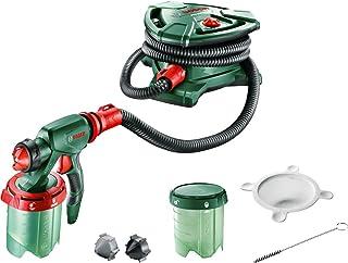 Bosch PFS 5000 E - Sistema de pulverización de pintura (1200 W, 2 depósitos para pintura de 1000ml, boquilla para pintura de paredes, barniz, esmalte, filtro para pintura, cepillo de limpieza, caja de cartón)