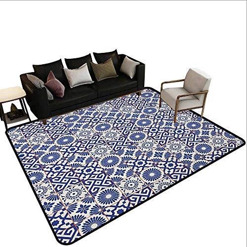 Slaapkamer woonkamer beschermingsmat Marokkaan, Kleurrijke Marokkaanse Mozaïek Muur Midden-Oosten Stijl Vakmanschap Verticale Details, Multi kleuren