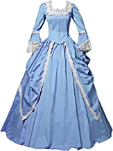 I-Youth Womens Lace Marie Antoinette Masked Ball Victorian Costume Dress