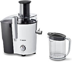Bosch MES25A0 juicepress VitaJuice 2 700 W, XL-påfyllningsfack, mikrofilter i rostfritt stål, utlopp med DripStop, vit/ant...