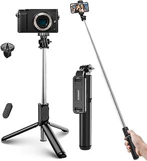 ELEGIANT Selfie Stick Tripod, 4 i 1 Bluetooth Selfie Stick med fjärrkontroll, utdragbar monopod med slutare för resor, kom...