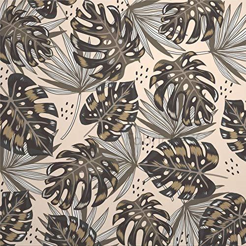 daoyiqi Juego de pegatinas decorativas para azulejos, diseño de hojas verdes tropicales de 10,16 x 10,16 cm, 12 unidades de vinilo impermeable para decoración de cocina, hogar