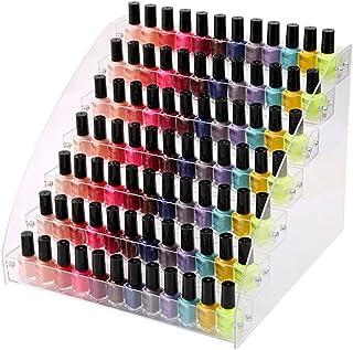 lolly-U Bastidor de Esmalte de uñas con Multi-Layer Organizador de Esmalte de uñas Esencial Lápiz Labial cosmética Vitrina...