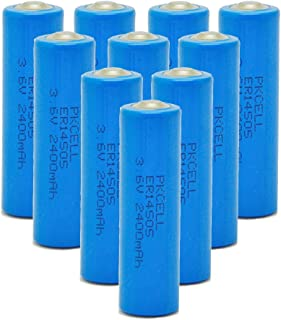 3.6V Lithium/SOCL2 Batteries aa Size Battery Model ER 14505 Battery 10Pcs