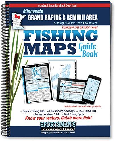 Northern Minnesota Grand Rapids & Bemidji Area Fishing Map Guide