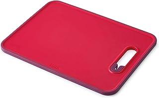 Joseph Joseph Slice y Tabla de Cortar con afilador de Cuchillos, tamaño Grande, Color Rojo