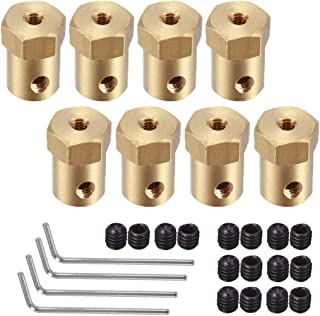 8 Pack 7mm Flexible Coupling Connector for Any Motors with Shaft Diameter of 0.275in/7mm - Car Wheels Tires Shaft