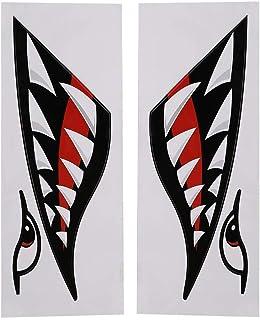 SolUptanisu haifisch Aufkleber,haifischmaul Aufkleber,kajak Sticker,hai Aufkleber,haifisch Aufkleber,1 para Haifisch Zähne Mund Aufkleber wasserdicht DIY lustige Aufkleber Dekoration Abziehbilder