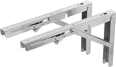Zware belasting plankdrager inklapbaar in roestvrij staal in 7 maten selecteerbaar belastbaar tot 120 kg 200mm zilver