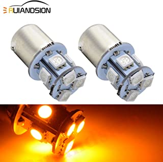 Ruiandsion 2pcs 1156 LED Bulbs BA15S 5050 8SMD LED 6V Amber Yellow Orange Car Turn Signal Lights Reverse Lights Tail Lights Lamps, Non-polarity