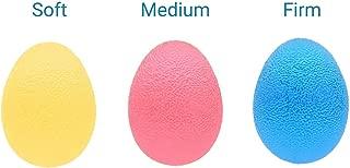 EX ELECTRONIX EXPRESS 78EGG3PK Egg Shaped Colorful Hand Exercise Balls