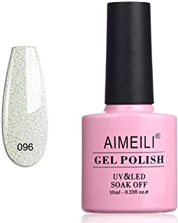 AIMEILI Soak Off UV LED Gel Nail Polish - Dancing Little Snow (096) 10ml