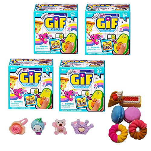 OH! MY GIF Animated Figurine 4-Pack Gift Set - Simple Joy Toys