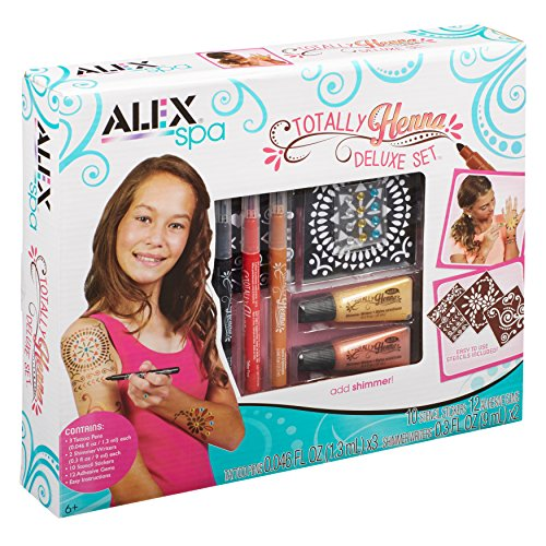Alex Spa Totally Henna Deluxe Set Girls Fashion Activity