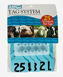 Allflex Global Numbered Ear Tags (Maxi), 25 Count