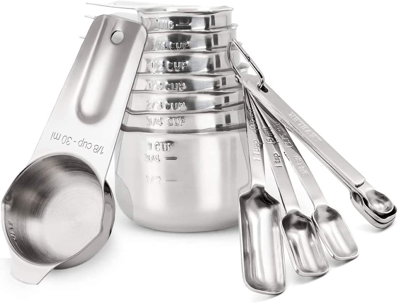 MIOMIO PREMIUM Memphis Mall Measuring 15pcs Popular popular Spoons Cups Combo set S 8 18