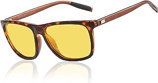 عینک رانندگی در شب Duco برای عینک دید در شب ضد خیرگی با لنزهای زرد 3029