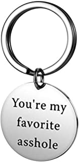 Couples Gifts Keychain,Boyfriend Girlfriend Present You Are My Favorite Asshole Keyring Valentine's Day Christmas Gifts fo...