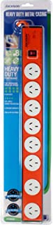 Jackson 8 Outlet Surge Protected Metal Powerboard with EMI+RFI, (PT8888)