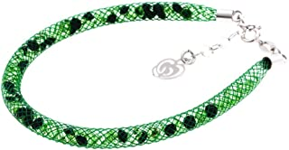 Bracciale Verde in Argento 925 con Cristalli Luminosi Collezione Tennis Colorazione : Verde Camuflage 4SN