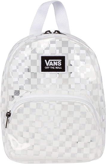 Vans - Gettin It Mini-mochila (tablero de ajedrez blanco/transparente, talla única)