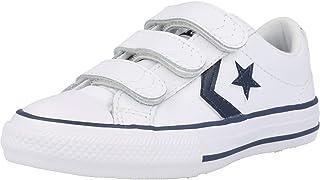 Converse Star Player 3V Ox Back To School Azul/Blanco (Navy/White) Cuero Adolescentes Entrenadores Zapatos