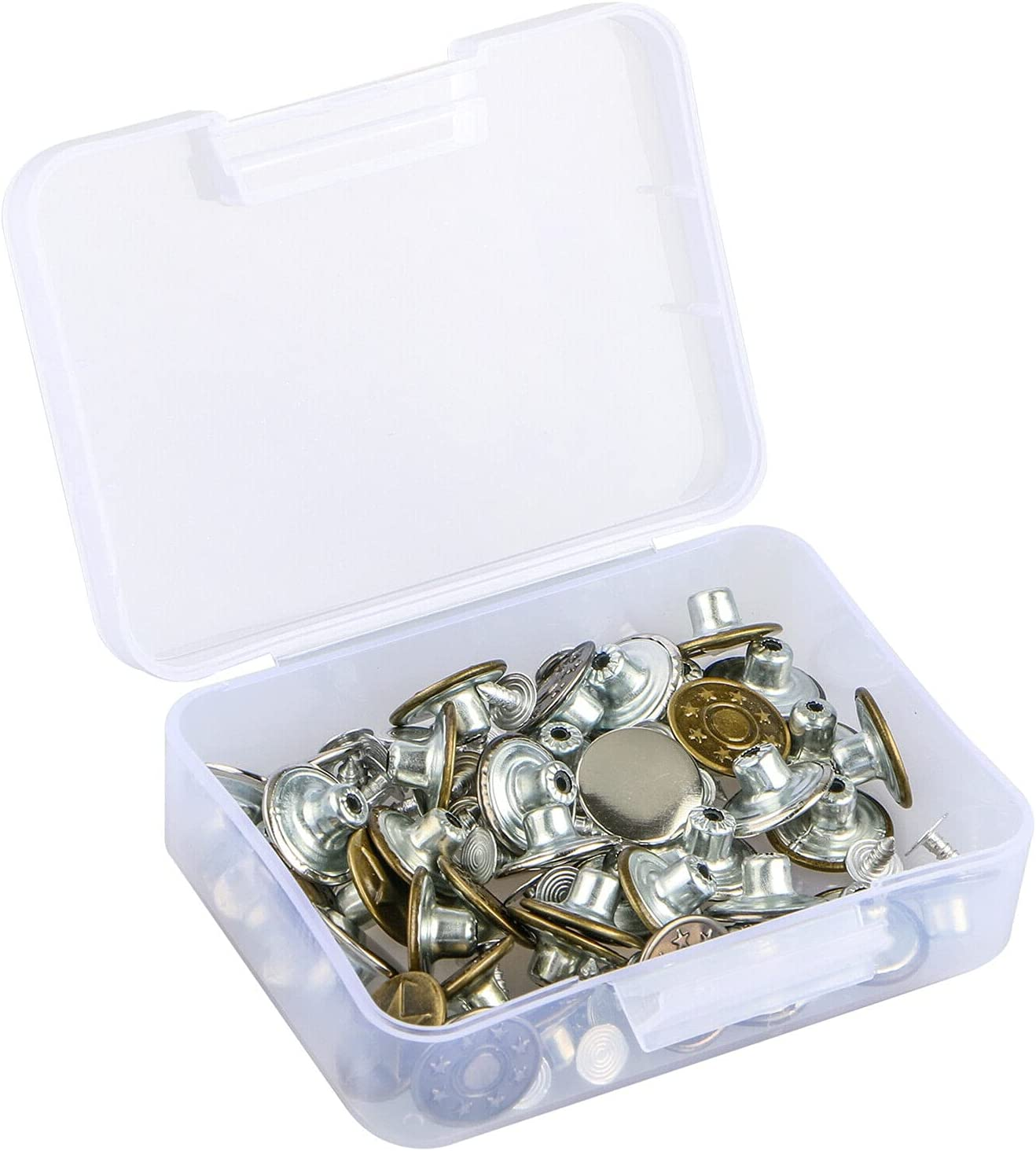 Kosoree 40 Sets Metal Jeans Indianapolis Mall Button Kit Replacement Al sold out. Tack Buttons
