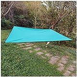 DAIHAN Tenda a Vela Ombreggiante Quadrato Telo Parasole Tenda da Sole Esterno in Oxford Anti-UV E Antipioggia Tendalino per Giardino Barca Balcone Terrazza Campeggio,Cielo Blu,210 * 200cm