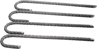 Pinnacle Mercantile 4 - Pack Rebar Stakes J Hook Heavy Duty Steel Ground Anchors 12 inch Chisel Point End