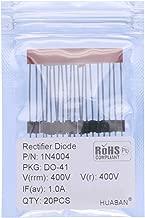 20PCS 1N4004 Rectifier Diode 1A 400V DO-41 (DO-204AL) Axial 4004 1 Amp 400 Volt