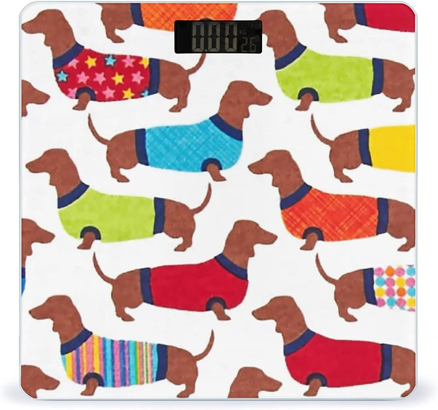 Colorful Dressed Dachshund Fees free!! Highly Import Accurate Smart Fitness W Scale