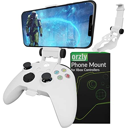 Xbox Series X Controller Mobile Gaming Clip, Xbox Controller Phone Mount Adjustable Phone Holder Clamp Compatible with Xbox Series X|S, Xbox One, Xbox One S, Xbox One X-Robot White