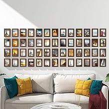 GJNVBDZSF Conjunto de molduras para parede, molduras para fotos, conjunto de 52 molduras com combinação de decoração de so...
