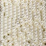 Sooyee Art Faux Pearls 1700-Pcs Loose Beads no Hole 1.1 Lbs (8mm,Ivory) for Vase Fillers, Table Scatter,...