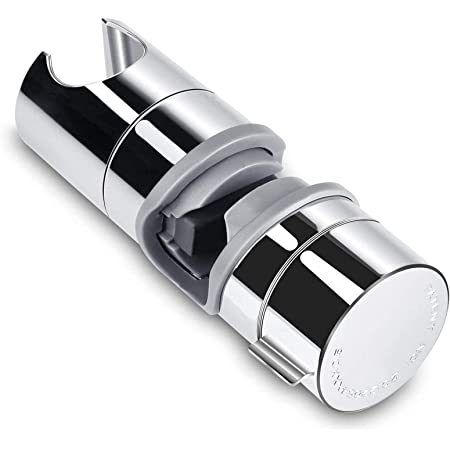 Support de Douche Aoleca 18-25mm ABS Réglable Main de Remplacement Douche Ferroviaire Head Curseur Clamp Support Bracket Chromée, PB4 pour Salle de Bain