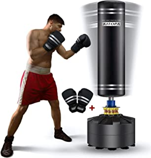 Kitopa Freestanding Punching Bag, 69 Inch Heavy Punching Bag with Suction Cup Base for..