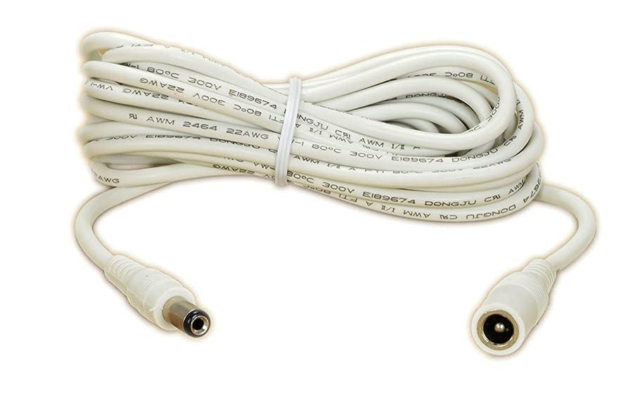 Extension Cable (12V) 20 Foot Works for Foscam FI9828W, FI9805W, FI8919W, FI9804W, FI8602W, Ocli Outdoor, White