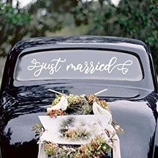 Large Newlyweds on Board Car Decal  Personalized Wedding Sticker   Bridal Party Supplies