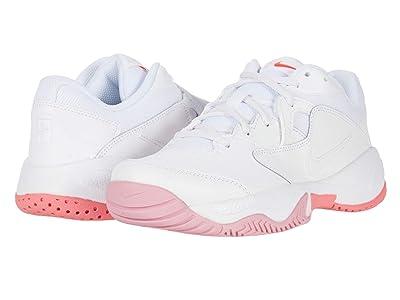Nike Court Lite 2 (White/White/Laser Crimson/Sunset Pulse) Women