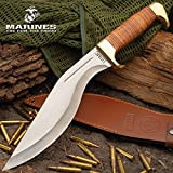 United Cutlery USMC Stacked Leather Handle Kukri Knife