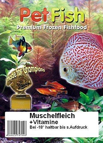 Muschelfleisch ganz Premium + Vitamine 5 kg / 10 X 500g / Premium Frostfutter / Diskusfutter / Zierfischfutter / Fischfutter / Diskus / Fische / Meerwasser Futter / Meerwasserfutter