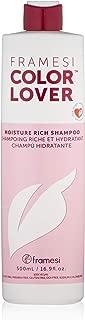 Framesi Color Lover Moisture Rich Shampoo - 16.9 Ounce, Moisturizing Shampoo, Sulfate Free and Color Safe Hydrating Shampoo, Vegan, Gluten Free, Cruelty Free