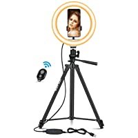 Deals on Hoslafon 10-inch LED Selfie Ring Light with Tripod Stand