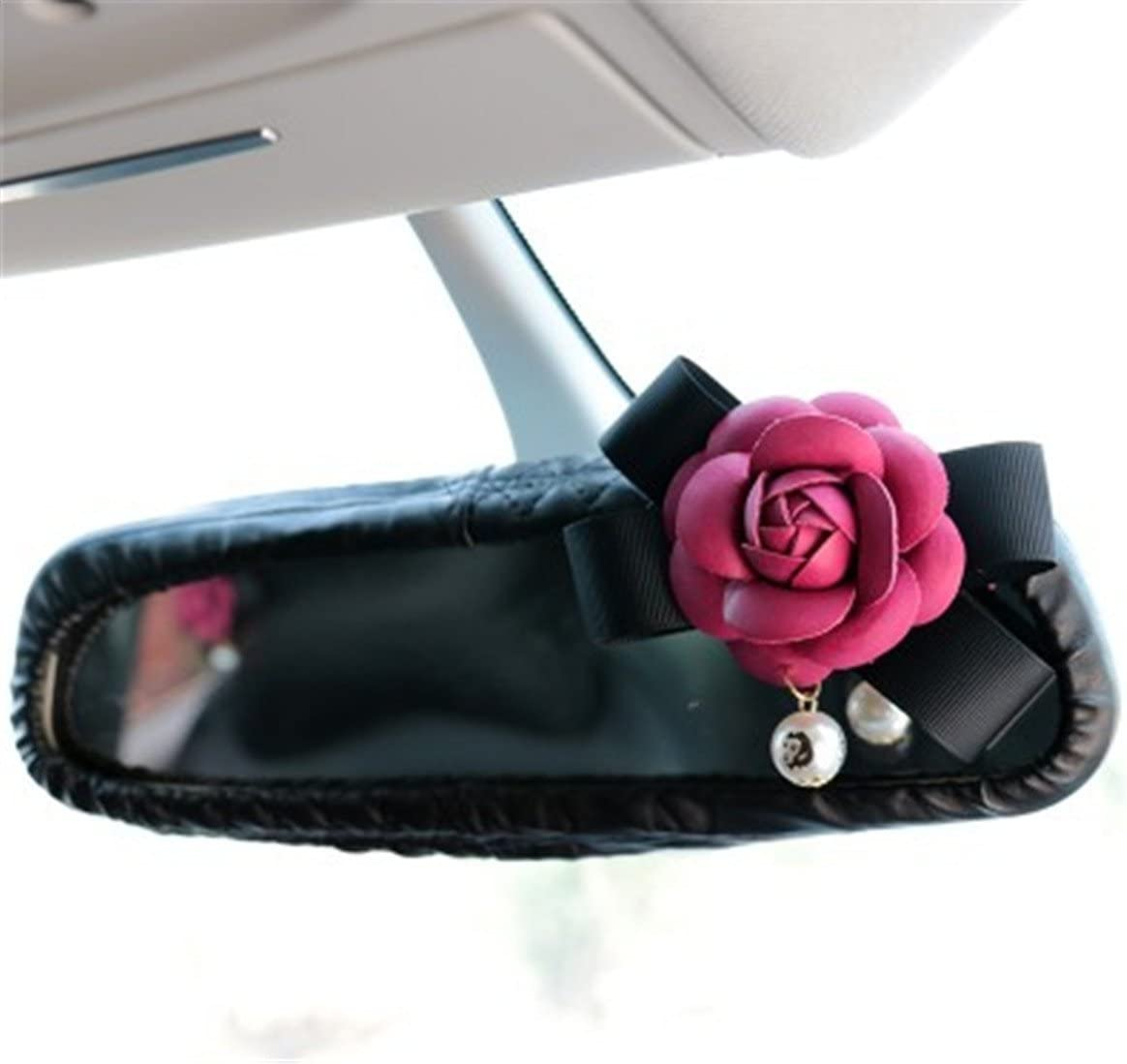 Follicomfy Car Rearview Mirror Sale Special Price Cover Stretchy Leather PU Direct sale of manufacturer Decorat