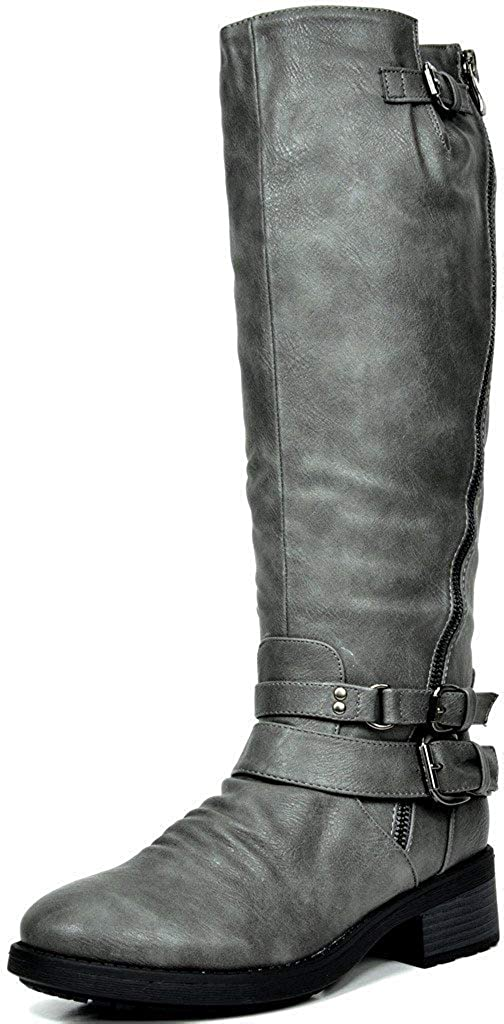 DREAM PAIRS Women's Fur Branded goods Lined Limited price sale High Riding Knee Boots