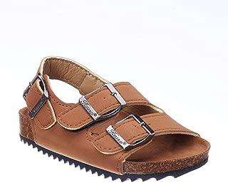 Hopscotch Boys PU Buckle Closure Sandals - Brown