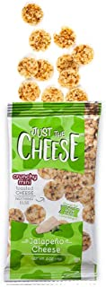 Just the Cheese Minis, Crunchy Baked Cheese, High Protein Snack, Low Carb Gluten Free With 100% Natural Cheese, Jalapeno (16 Packs)