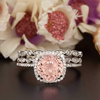 morganite engagement ring on hand
