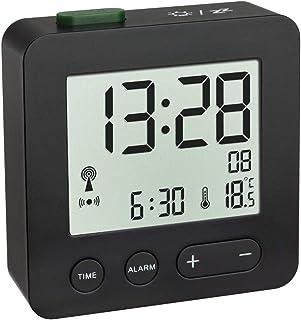 TFA Dostmann 60.2545 - Despertador electrónico (Negro con baterías)