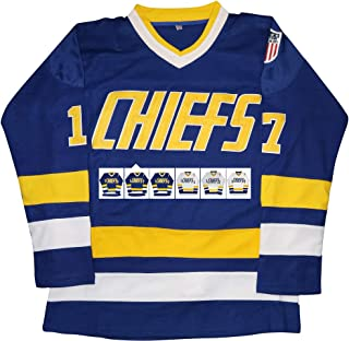 Micjersey Hanson Brothers Jersey,Charlestown Chiefs 16,17,18 Slap Shot Ice Hockey Movie Jersey